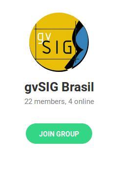 Grupo gvSIG Brasil no Telegram