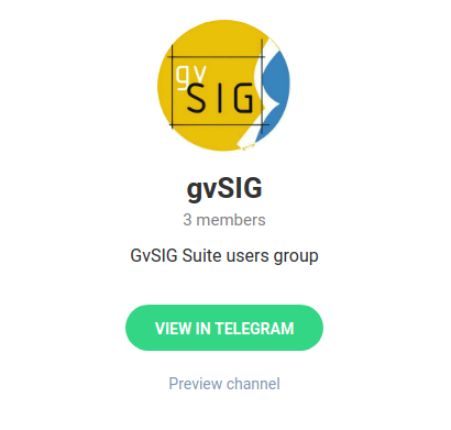 Grupo gvSIG Suite no Telegram